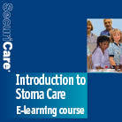 Front cover for 'E learning course' information booklet